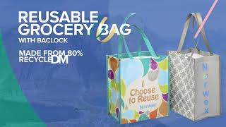 Norwex Reusable Grocery Bag With BacLock®