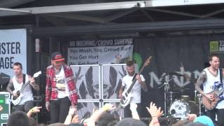 Chelsea Grin - Angels Shall Sin, Demons Shall Pray Live @ Warped Tour 2014 Ventura