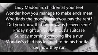 Lady Madonna lyrics (Paul McCartney with Wings)