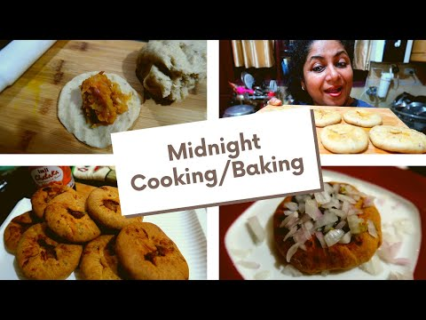 Midnight Cooking | Midnight Movie Watching | Baked Kachori Recipe | Tamil Vlog