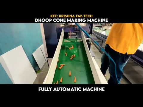 Fully Automatic Dhoop Cone Incense Making Machine