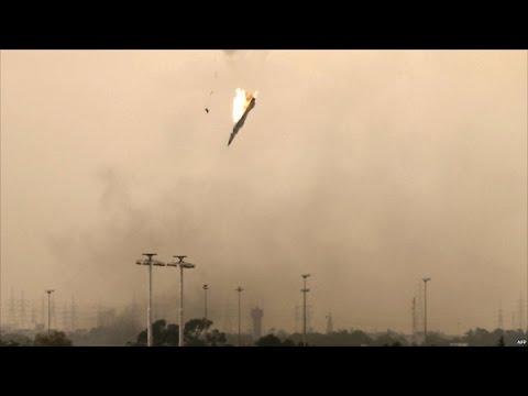 Фото ВС Сирии сбили израильский военный самолёт
