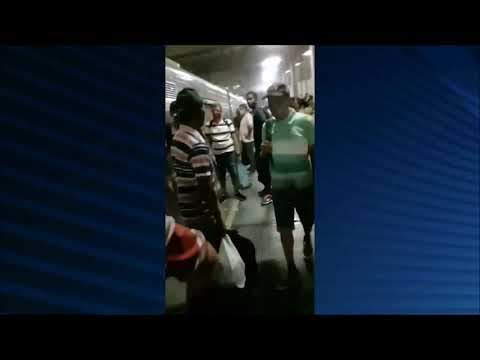 Metrô do Recife: princípio de incêndio em trem causa tumulto na Estação Mangueira