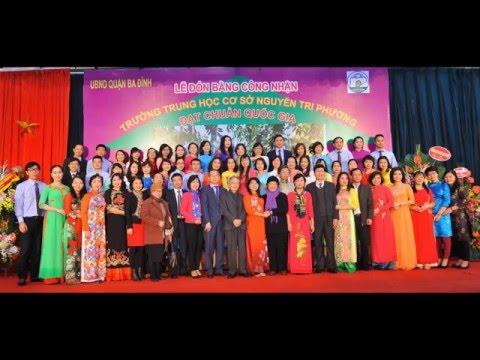 Trường THCS Nguyễn Tri Phương đón bằng công nhận Trường đạt chuẩn Quốc gia