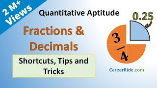 Fractions And Decimals - Shortcuts & Tricks For Placement Tests, Job Interviews & Exams