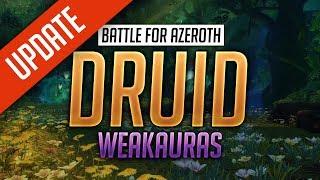 Druid WeakAuras BFA Patch 8.1.5 - FULLY CUSTOMIZABLE - Balance, Feral, Guardian  Restoration
