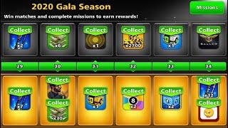 8 ball pool Unlock All Rewards Pool Pass 😲 Max Rank 34