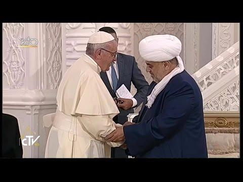 Rencontre interreligieuse du Pape François à la Mosquée Heydar Aliyev