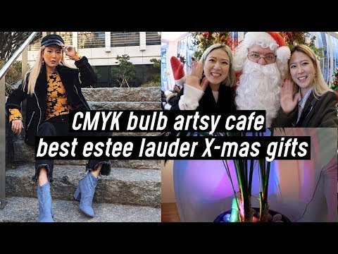 CMYK Bulb Artsy Cafe, Best Christmas Gifts from Estee Lauder & Holiday Event | DTV #59