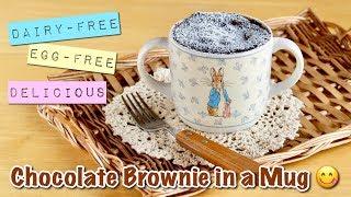 Vegan Delicious Chocolate Brownie in a Mug (Dairy-free Egg-free Microwave Recipe) | OCHIKERON