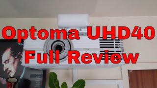 Optoma UHD 40 Calibration Settings - hmong video