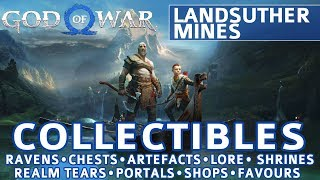 God of War - Landsuther Mines All Collectible Locations (Ravens, Chests, Artefacts, Shrines) - 100%