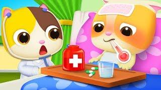 Hãy nhớ uống thuốc khi bị ốm | Mèo con uống thuốc | Nhạc thiếu nhi vui nhộn | BabyBus
