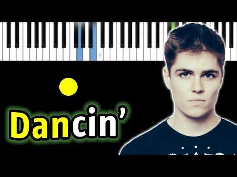 Aaron Smith - Dancin (KRONO Remix) | Piano_Tutorial | Разбор | КАРАОКЕ | НОТЫ + MIDI