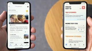 Google News vs. Apple News on iOS