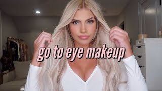 My Go To Eye Makeup Look | Eye Makeup That Makes GREEN EYES POP & The Perfect Summer Makeup Look