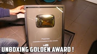 Golden Playbutton Unboxing - Video Youtube