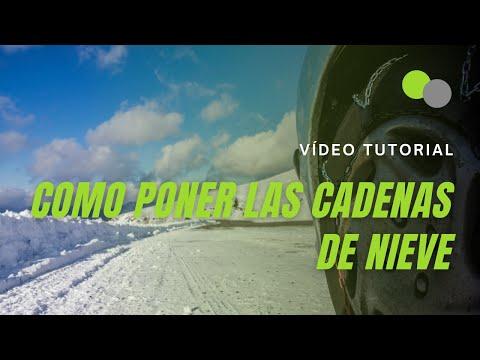 Cómo poner las cadenas de nieve en la rueda del coche