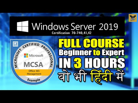 Windows Server 2019 Full Course in One Video | Full Tutorial for Beginners to Expert [Hindi]