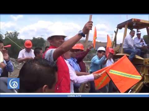 Inicio de la construcción del puente de San Marcos Huixtoco a Cuatro Vientos