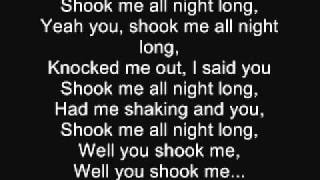 ACDC- You shook me all night long (Lyrics)