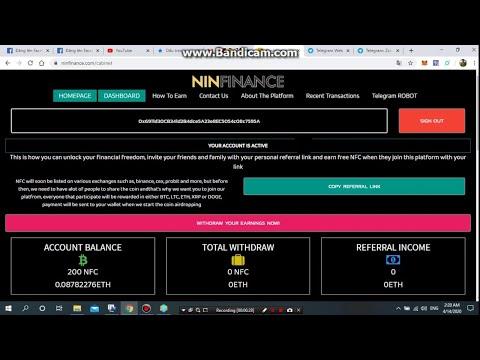 #Ninfinance. 0.09 ETH и более в проекте Ninfinance без вложений!