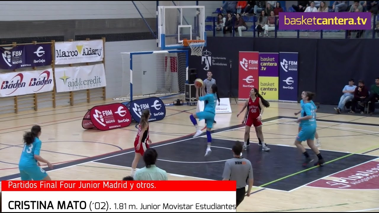 CRISTINA MATO (´02) 1.81 Junior Fem. Movistar Estudiantes 2019/20. HIGHLIGHTS (BasketCantera.TV)