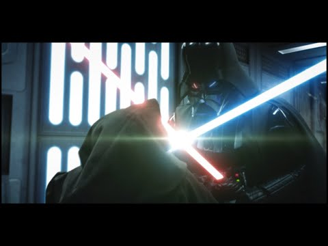 The first light saber duel in Star Wars, Obi-Wan vs Vader, reimagined