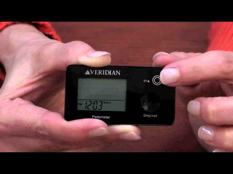 Veridian Multi-Function Pocket Pedometer