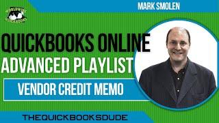 QuickBooks Online Vendor Credit Memo