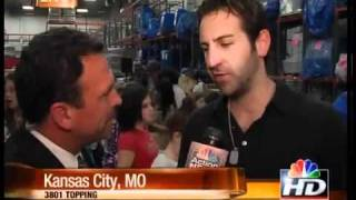 Country star Josh Kelley helps out at Harvester's