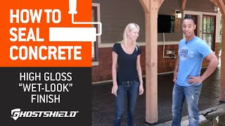 "How To Seal Concrete: High-Gloss ""Wet Look"" Decorative Sealer"