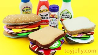 Toy Felt Food Toast Bacon & Egg Breakfast And Play Doh Microwave Kitchen Playset Baby Nursery Rhymes