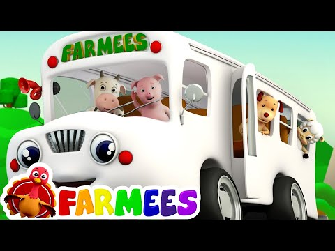 Download The Wheels On The Bus | Songs for Children Compilation | Kids Songs by Farmees HD Video