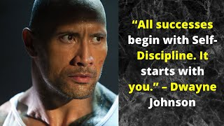 "Dwayne ""The Rock"" Johnson's Speech Will do you a favour - One of the Most Eye Opening Speeches"