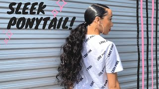 EXTENDED SLEEK PONYTAIL!!