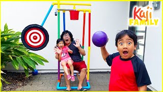 Dunk Tank Challenge Family Fun Activities with Ryan's Family!!!