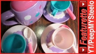 Toy Childrens Tea Sets For Girls Or Boys For Kids Pretend Play Party W/ Miniature Pot & Cup Sets