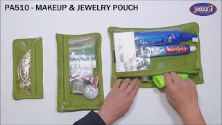 PA510 Makeup and Jewelry Pouch | Yazzii Travel Bags
