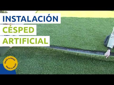C mo instalar c sped artificial manual en video - Como instalar cesped artificial sobre tierra ...