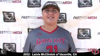 2022 Lainie McClintick Pitcher and First Base Softball Skills Video - Game Day
