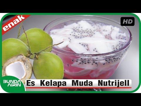 Video Cara Membuat Es Kelapa Muda Nutrijell Resep Minuman Segar Indonesia - Bunda Airin