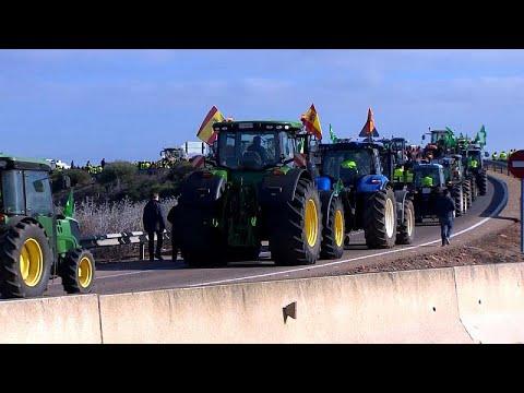 Ισπανία: Στους δρόμους οι αγρότες