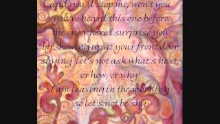 "Ani DiFranco ""Shy"" Live Lyrics"