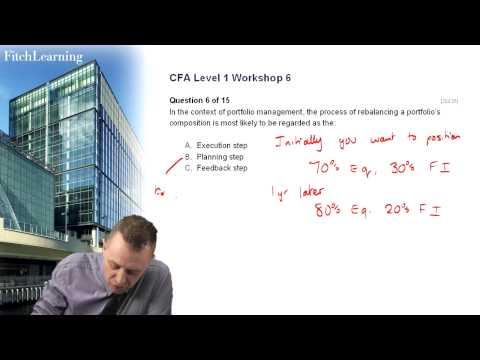 CFA Level 1 exam practice - Question 1 - Alternatives, Portfolio ...