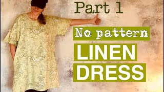 How To Make A Linen Dress | Sewing Tunic Tutorial | Jak Uszyć Lnianą Sukienkę | ドレス作り方