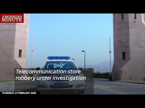 Telecommunication store robbery under investigation