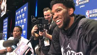 NBA All-Star Game: Sixers' Joel Embiid on Rihanna
