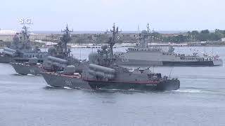 Репетиция парада Черноморского флота ВМФ России в Севастополе