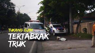 Tukang Ojek Tertabrak Truk di Jalan Siliwangi Semarang, Terseret hingga Hampir 15 Meter
